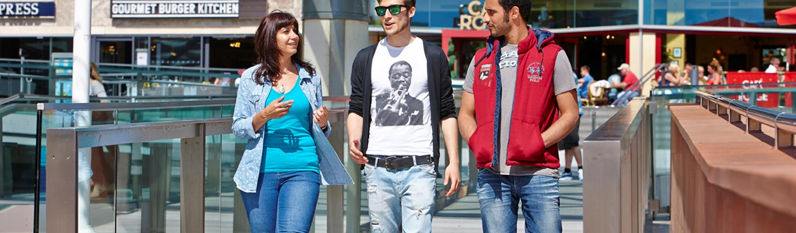 Students in Liverpool One